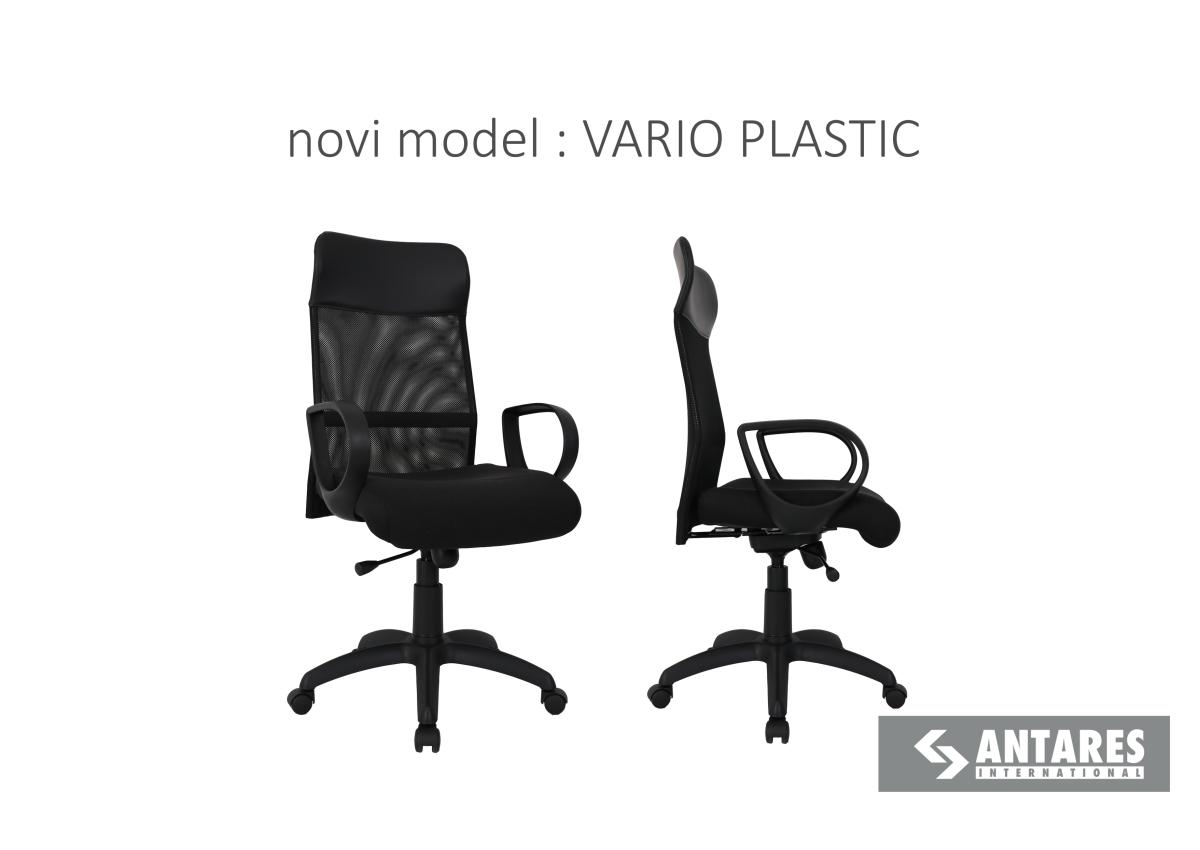 Novi model:  Radna stolica VarioPlastic