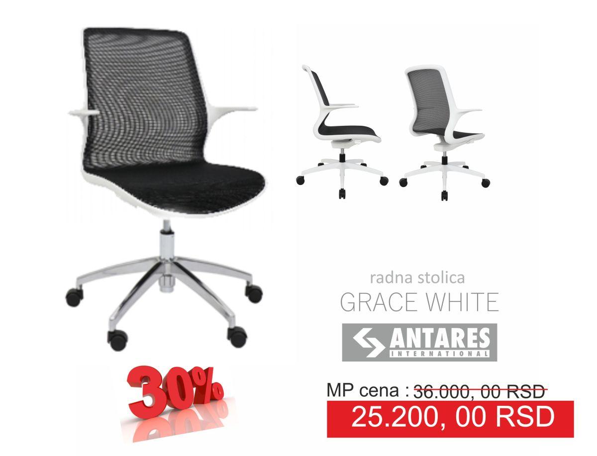 Radna stolica Grace White na sniženju30%